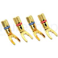 Van Den Hul DIY Screw-on Spade Plugs - Pack of 4