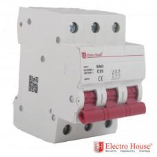 ElectroHouse EH-3.10 Автоматический выключатель трёхполюсный
