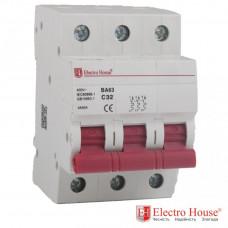 ElectroHouse EH-3.32 Автоматический выключатель трёхполюсный