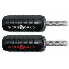 WireWorld Banana plugs Silver-clad